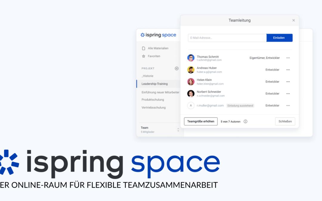 31.03.2021 iSpring Space: die Cloud für kollaboratives Arbeiten